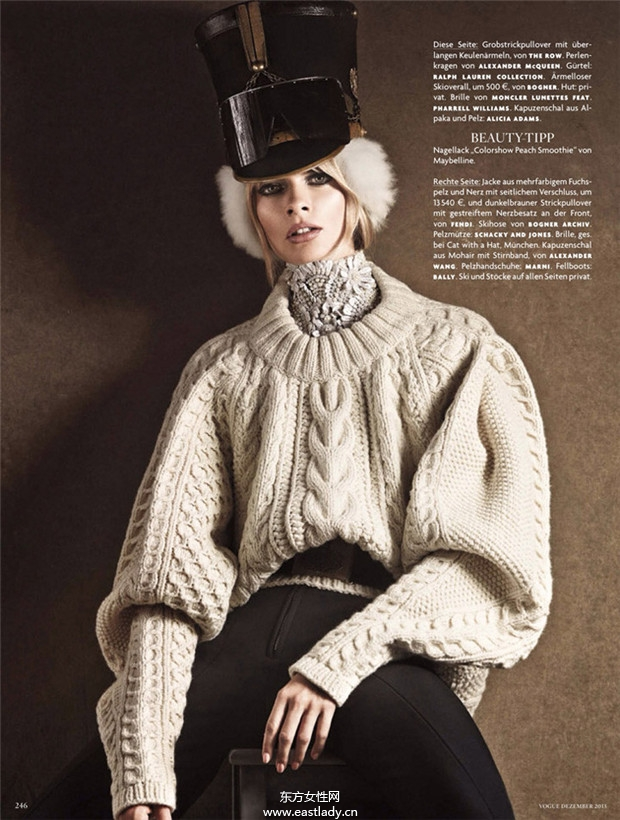 Julia Stegner《Vogue》2013年12月德国版